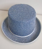 Hoge hoed blauw glitter_9