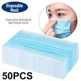 Mondkapjes 50 stuks mondmasker 3-laags niet medisch Blauw_9