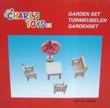 Houten tuinstoelensetje poppenhuis Charl's Toys_9