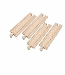 Woody 4 rechte houten rails 15 cm.