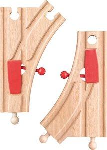 Woody 2 bedienbare houten wissels treinbaan 91809