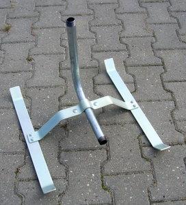 "Sproeislede 3/4"" buitendraad zwaar model gegalvaniseerd staal"