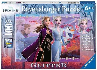 Disney Frozen 2 glitterpuzzel 100 stukjes XXL