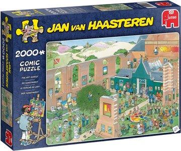 Jan van Haasteren puzzel de Kunstmarkt 2.000 stukjes