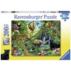 Ravensburger Dieren in de Jungle puzzel 200 stukjes XXL