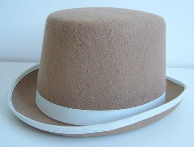 Hoge hoed bruin vilt