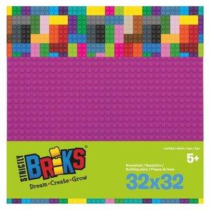 Bouwplaat lego magenta 32x32 Strictly Briks