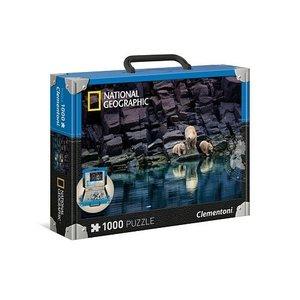 Clementoni National Geographic puzzel 1000 stukjes IJsberen op een rots