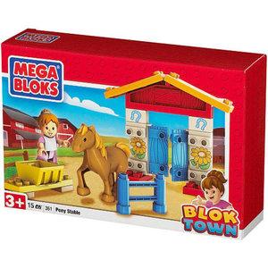 Megabloks Blok town 361: Paardenstal 16 stenen
