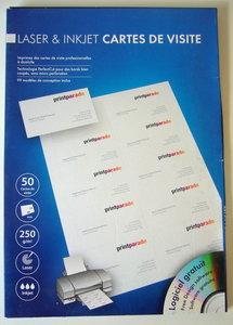 Visitekaartjes op A4 voor laser en inkjet printers 50 stuks