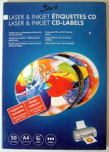 Etiketten A4 voor laser en inkjet printers CD-labels