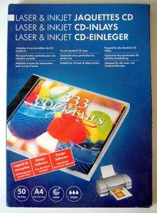 Etiketten A4 voor laser en inkjet printers CD-inlays