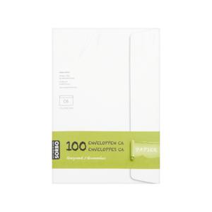 Sorbo witte envelop C6 100 stuks gegomd